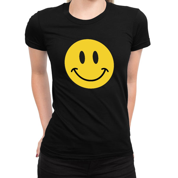 Smiley Face Women's Tee  -  Women's T-Shirt XS / WHITE