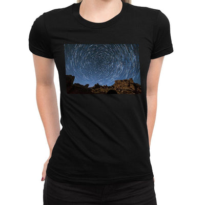 Space Vortex Women's Tee  -  Women's T-Shirt XS / BLACK