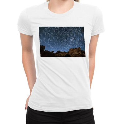 Space Vortex Women's Tee  -  Women's T-Shirt XS / WHITE