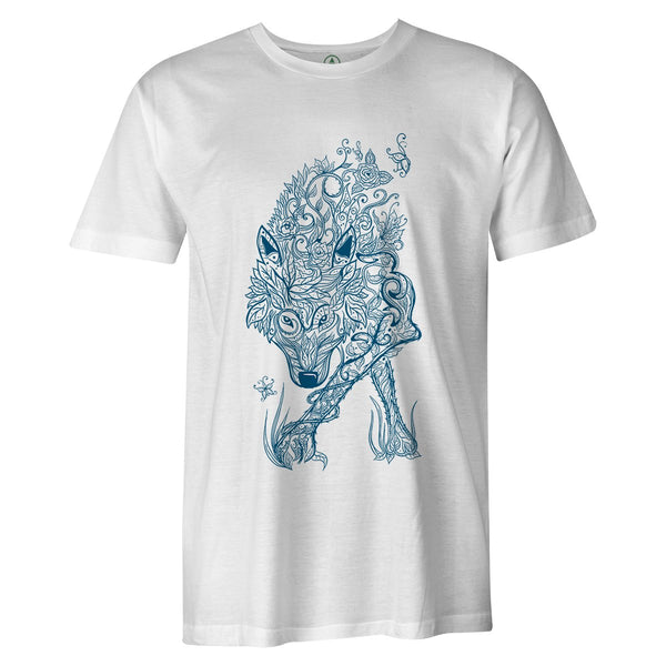 Spring Wolf Tee  -  Men's T-Shirt S / WHITE