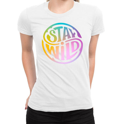 Stay Wild Women's Tee  -  Women's T-Shirt XS / WHITE