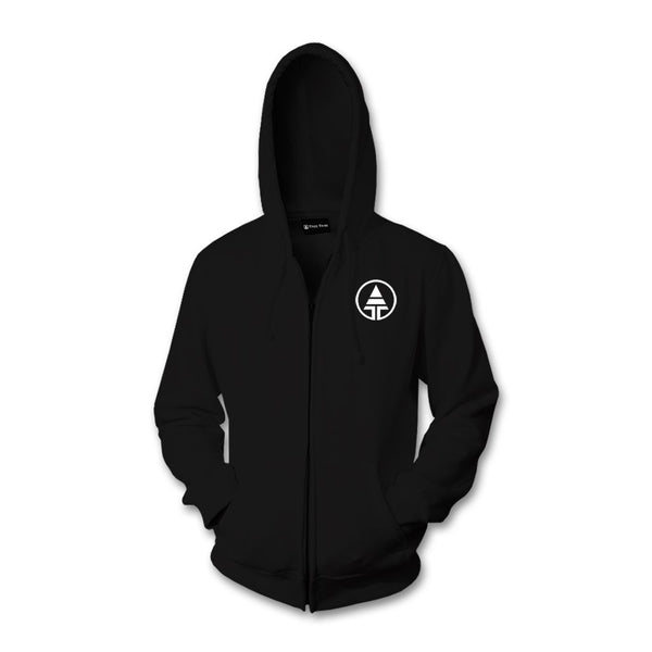 Embroidered Tribe Logo Zip Up Hoodie  -  Hoodie