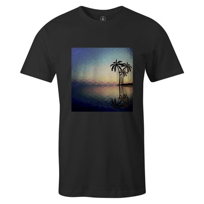Vector Island Tee  -  Men's T-Shirt S / BLACK
