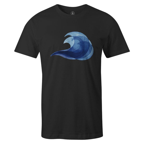 Wave Tee  -  Men's T-Shirt S / BLACK