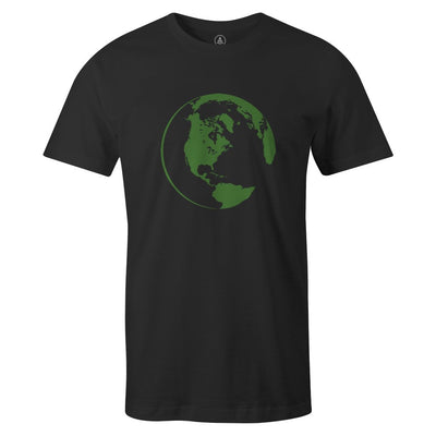 Green World Tee  -  Men's T-Shirt S / BLACK