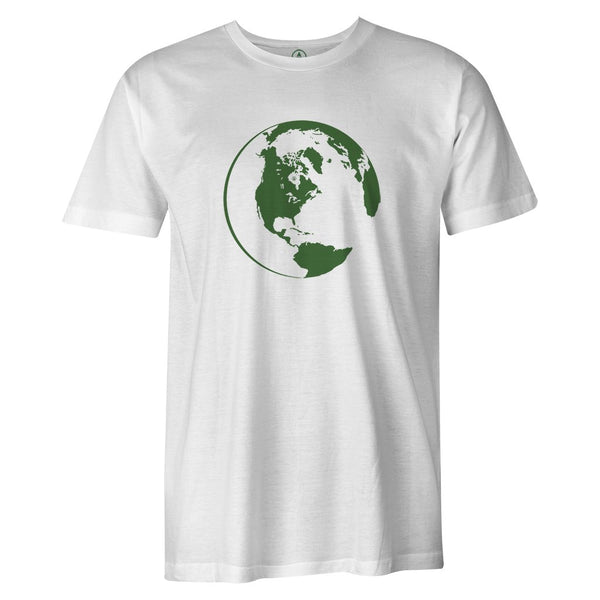Green World Tee  -  Men's T-Shirt S / WHITE
