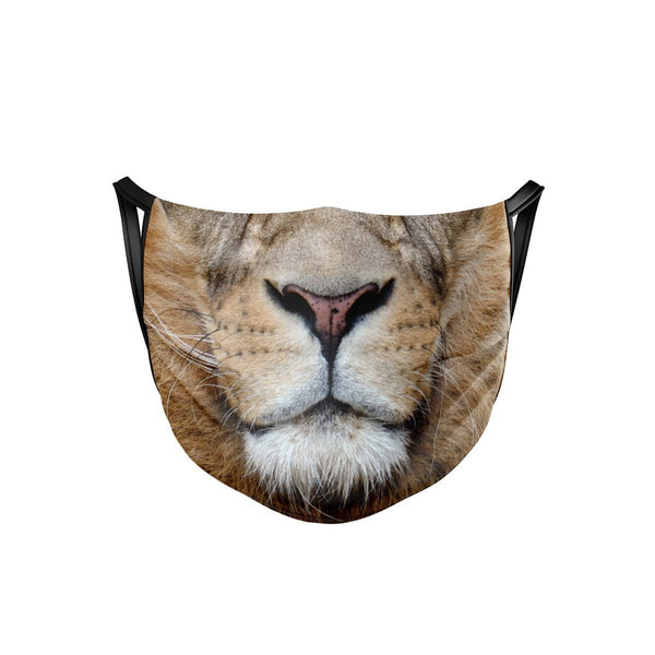 African Lion Face Mask  -  Face Mask