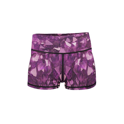 Amethyst Yoga Shorts  -  Women's Shorts