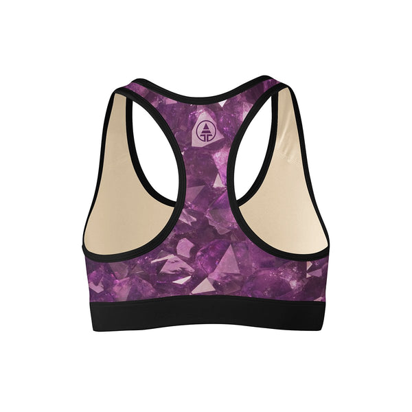 Amethyst Sports Bra  -  Yoga Top