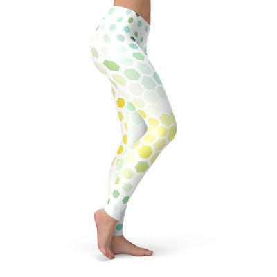 Bee Hive Leggings  -  Yoga Pants