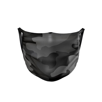 Black Camo Face Mask  -  Face Mask