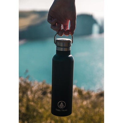 Black Tribe Logo Steel Bottle - 20 oz