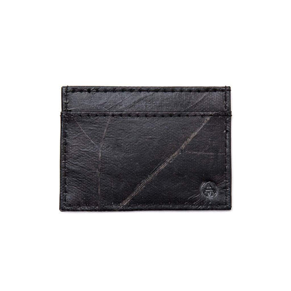 Leaf Leather Slim Wallet - Black  -  LL Slim Wallet Black