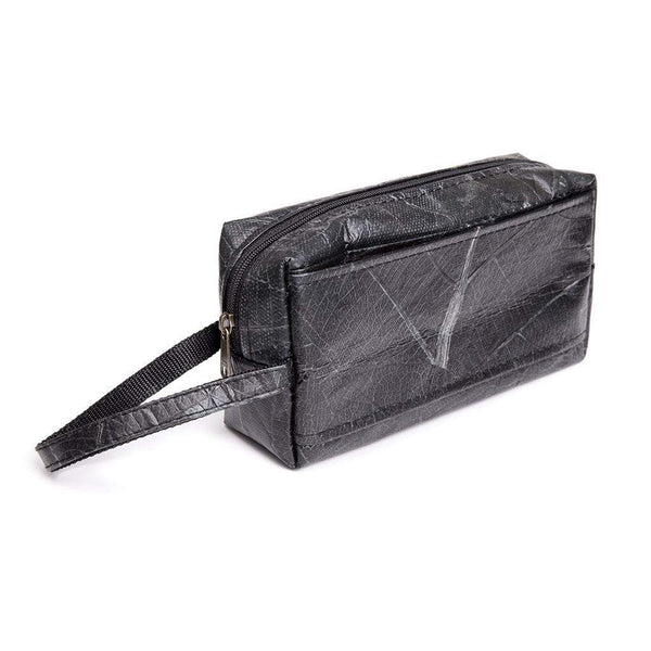 Leaf Leather Travel Kit - Black
