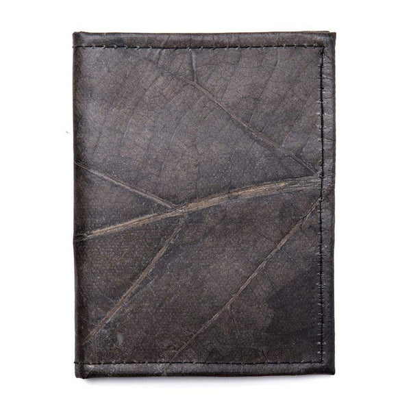 Leaf Leather Travel Wallet - Black  -  LL Travel Wallet Black