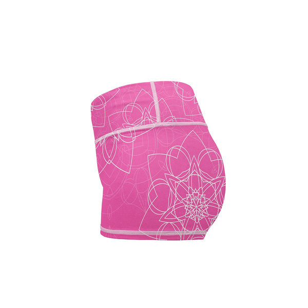 Blooming Star Yoga Shorts  -  Women's Shorts