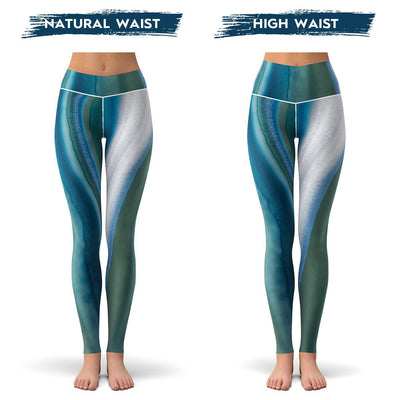 Blue Agate Leggings  -  Yoga Pants