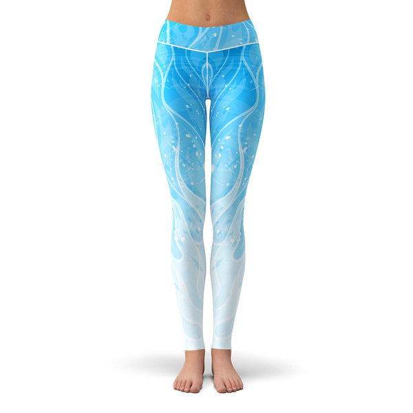 Blue Blaze Leggings  -  Yoga Pants