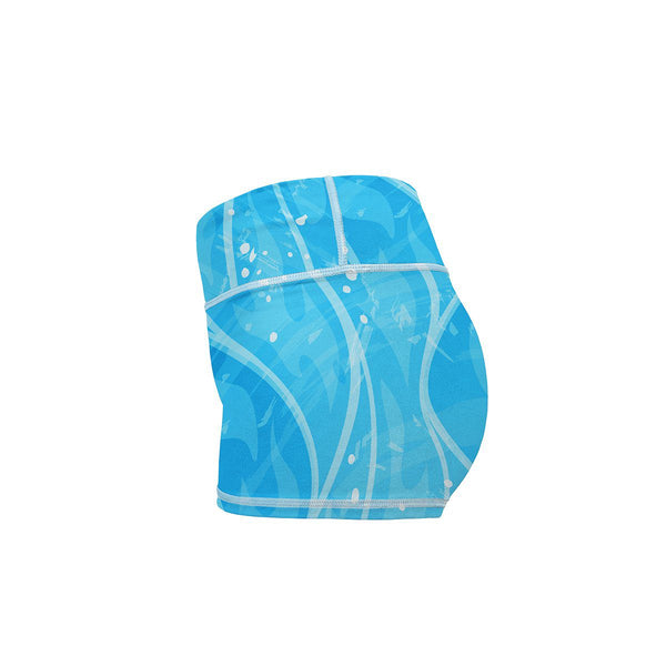 Blue Blaze Yoga Shorts  -  Women's Shorts