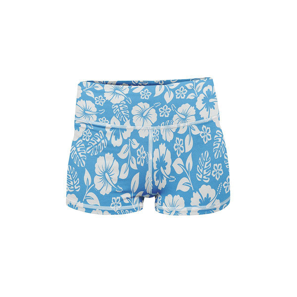 Blue Bloom Yoga Shorts  -  Women's Shorts