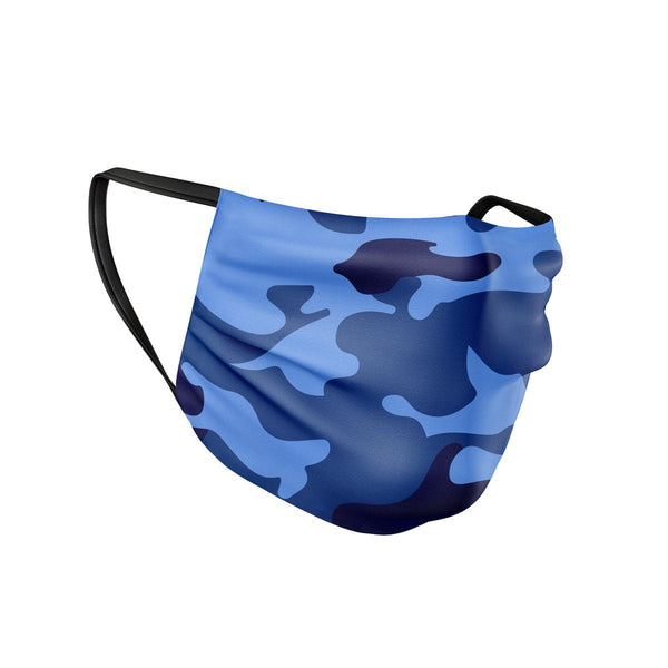 Blue Camo Face Mask  -  Face Mask