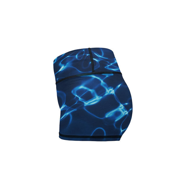 Blue Dreams Yoga Shorts  -  Women's Shorts