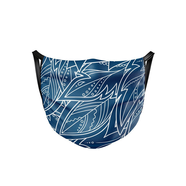 Blue Feather Face Mask  -  Face Mask