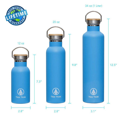 Blue Tribe Logo Water Bottle - 12 oz  -  Reusable Bottle
