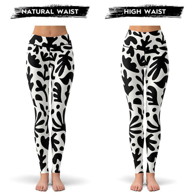 Bold Floral Leggings  -  Yoga Pants