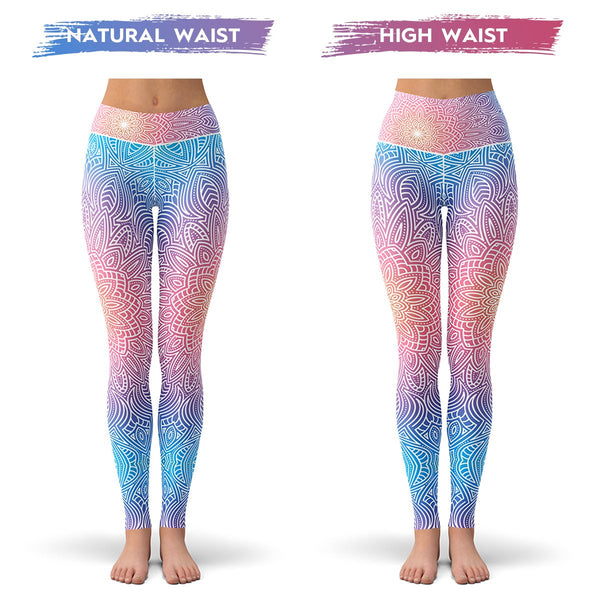 Bright Vibes Mandala Leggings  -  Yoga Pants