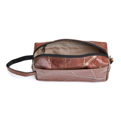 Leaf Leather Travel Kit - Brown  -  LL Travel Kit Brown