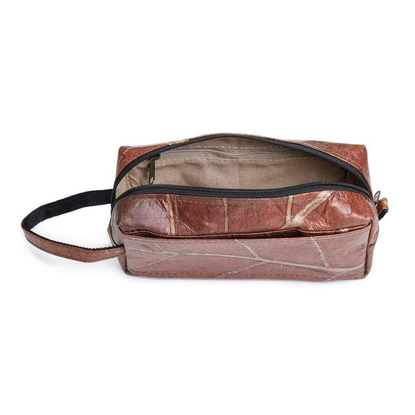 Leaf Leather Travel Kit - Brown