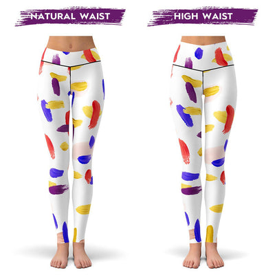 Brush Strokes Leggings  -  Yoga Pants