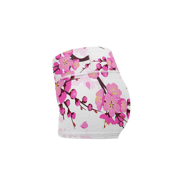 Cherry Blossom Yoga Shorts  -  Women's Shorts