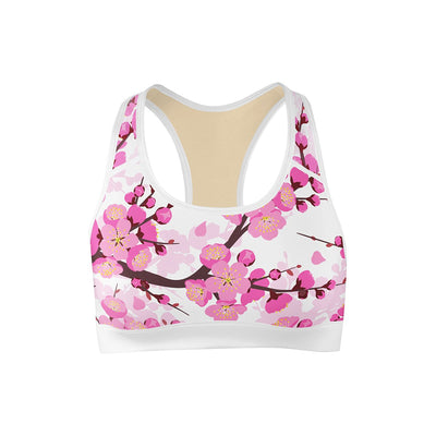 Cherry Blossom Sports Bra  -  Yoga Top