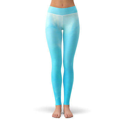 Cloudy Sky Leggings  -  Yoga Pants