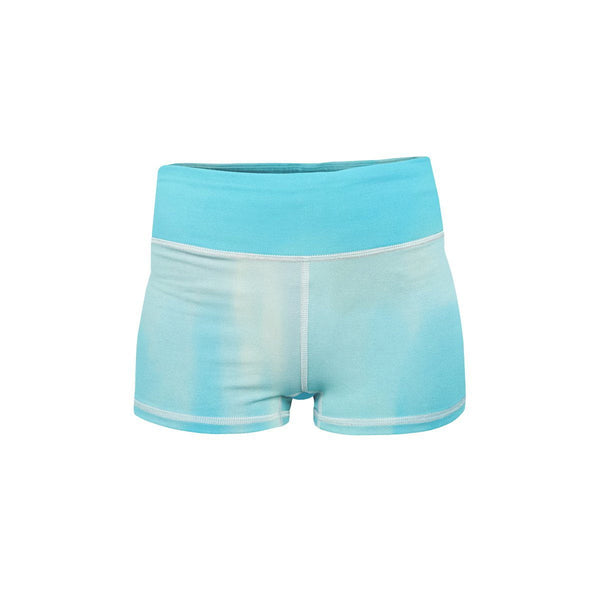 Cloudy Sky Yoga Shorts  -  Women's Shorts