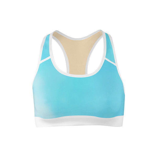 Cloudy Sky Sports Bra  -  Yoga Top