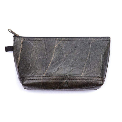 Leaf Leather Stash Bag - Black