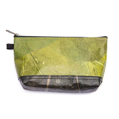 Leaf Leather Stash Bag - Green / Black  -  LL Stash Bag Green / Black