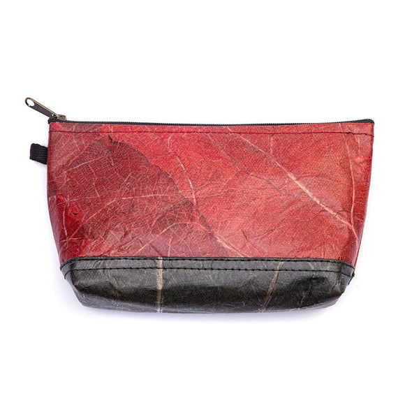 Leaf Leather Stash Bag - Red / Black  -  LL Stash Bag Red