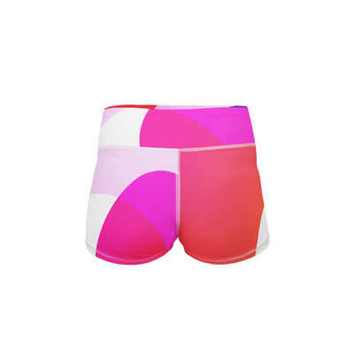 Colorful Camo Yoga Shorts  -  Women's Shorts