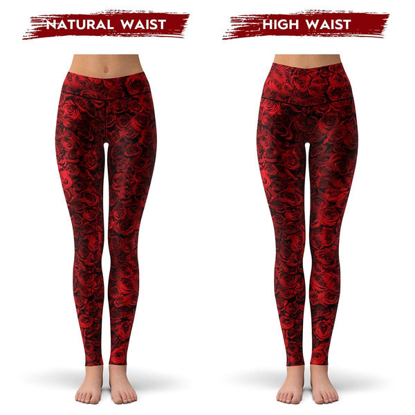Red Rose Leggings