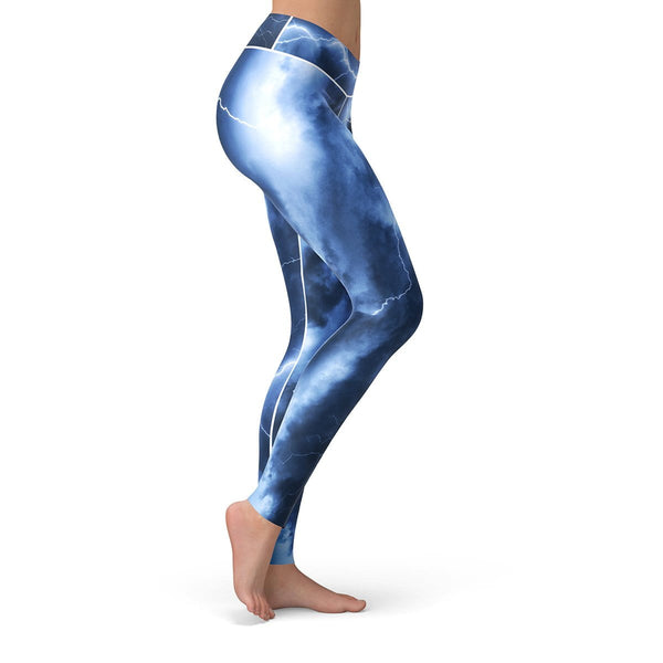 Electric Storm Leggings  -  Yoga Pants