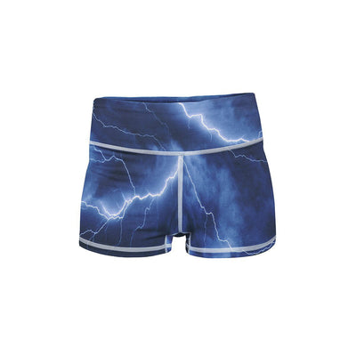 Electric Storm Yoga Shorts  -  Women's Shorts
