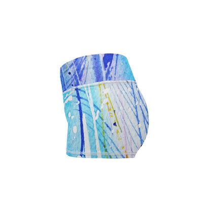 Feather Yoga Shorts  -  Women's Shorts