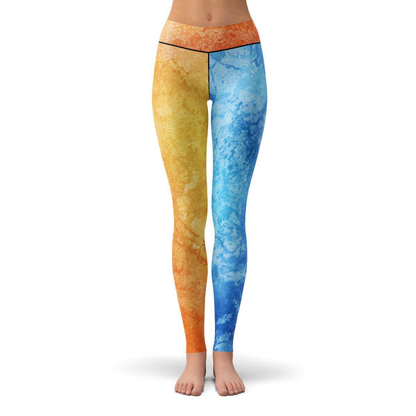Fire and Ice Leggings  -  Yoga Pants