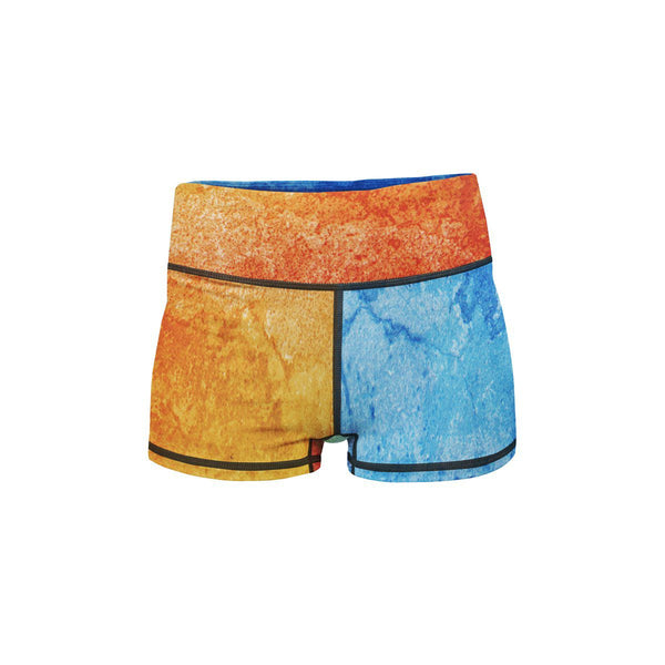 Fire and Ice Yoga Shorts  -  Women's Shorts