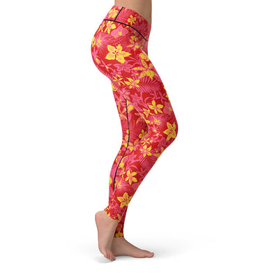 Floral Afterglow Leggings  -  Yoga Pants