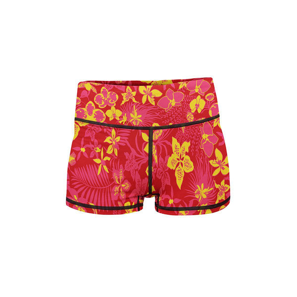 Floral Afterglow Yoga Shorts  -  Women's Shorts